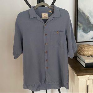 Luau Men's 100% Silk Short Sleeve Button Up